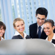 Successful businesspeople planning or brainstorming at office — Stock Photo #7510988