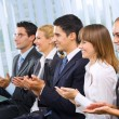 Photo of businesspeople or students at conference — Stock Photo #7511375