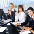 Stock Photo: Successful business-team planning or brainstorming at office
