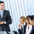 Businesspeople at business meeting, seminar or conference — Stock Photo