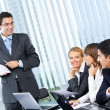 Businesspeople at business meeting, seminar or conference — Stock Photo #7511494