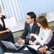 Stock Photo: Business at business meeting, seminar or conference