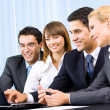Successful business-team working together at office — Stock Photo