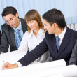 Successful business team working together at office — Stock Photo #7511570