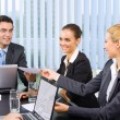 Successful business-team working together at office — Stock Photo #7511700