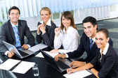 Successful business-team planning or brainstorming at office — Stock Photo