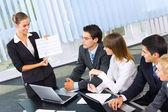 Business på affärsmöte, seminariet eller konferensen — Stockfoto