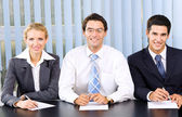 Businessteam, board meeting or selection committee at office — Stock Photo