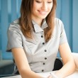 Businesswoman working at office — Stock Photo