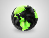 Model of Earth made of color beads, ball. — Stock Photo