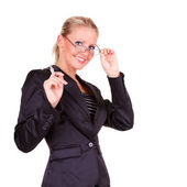 Young happy business woman — Stock Photo