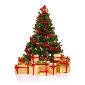 Geïsoleerde kerstboom. — Stockfoto