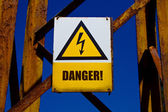 Warning board — Stock Photo
