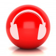 Red web 2.0 button - Stockfoto