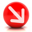 Red web 2.0 button — Stock Photo