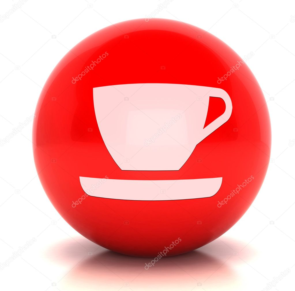 Render of a sphere with simbol  Stock Photo #6835898