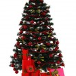 Christmas tree with gifts boxes — Stock Photo