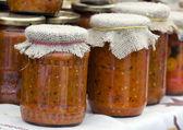 Ajvar - traditionele servische voedsel — Stockfoto