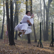 Karate jump — Stock Photo