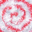 Red and white tinsel — Stock Photo