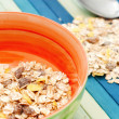 Cup of cereals — Stock Photo