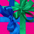 Gift box with ribbons — Stock Photo