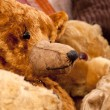 Toy antique bears - Stock Photo