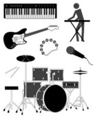 Music Set — Stock Vector