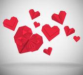 Paper Hearts — Stock Vector