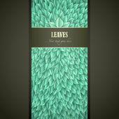 Yeşil yaprakları etiketi — Stok Vektör
