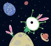 U.F.O. Easter — Stock Vector