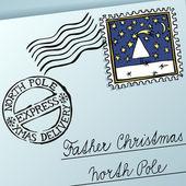 Christmas Letter — Stock Vector