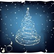 Royalty-Free Stock Vector Image: Glowing Christmas Tree