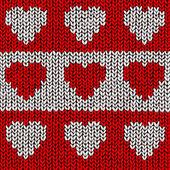 Heart Jumper — Stock Vector