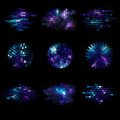 Mosaic Elements — Stock Vector