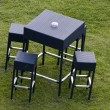Table in the garden — Stock Photo