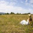 Stock Photo: Girl in the field