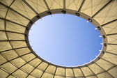 Square retractable roof — Stock Photo