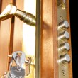 Door lock home security — Stockfoto