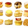 Pastry isolated on white background - Stock Photo
