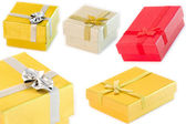 Gift boxes isolated — Stock Photo