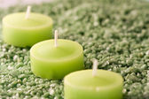Candles and spa environment — Stock Photo
