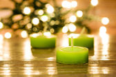 Candles and christmas atmosphere — Stock Photo