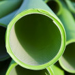 Tubes in the plastic industry - Stock Photo