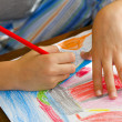Child drawing - Lizenzfreies Foto