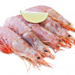 Fresh seafood, shrimps and crustaceans — Stock Photo #7422056