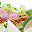 Fresh seafood, shrimps and crustaceans — Stock Photo #7422426