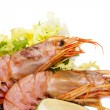 Fresh seafood, shrimps and crustaceans — Stock Photo #7422487
