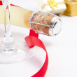 Champagne for the celebration of Christmas — Stock Photo