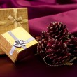 Gifts and decorations for Christmas — Stock Photo